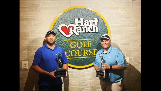 Luke Weber (left) and Brad Haynes (right) won Overall in the South Dakota Golf Association's 2020 SDGAMid-Amateur Two-Man Championship held this last weekend.