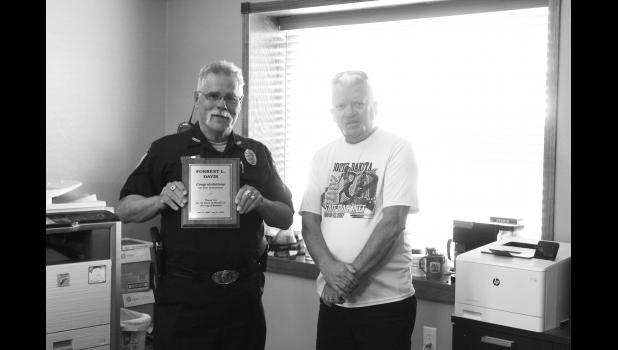 Forrest Davis and Mayor Harry Weller.