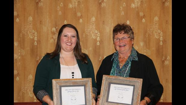 Bailey Coates, at left, and Zona Vig were named South Dakota Young Gun of Ag and South Dakota Women in Ag for 2017 respectively by the South Dakota Women in Ag organization.