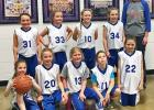 The Lady Coyotes played hard in the third grade division winning a game against Burke Central and later falling to Pierre and Gregory. Good job girls! Pictured back (L-R): Natalie Sealey, Jacey Jensen, Tayah Anderson and Mallory Venard, along with Lenae Tucker. Front (L-R): Denae Mann, Sunny Valburg, Sophia McNaughton, Kate Bouman and Addison Rankin.