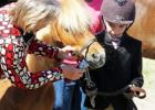 Jones County Elementary students learn to care for a pony with hands on experience.